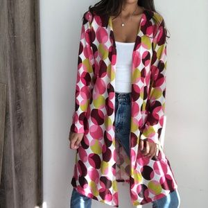 NWT Charming Charlie dotted long duster cardigan